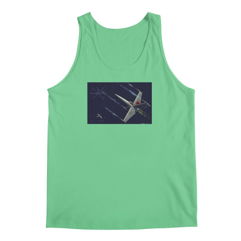 Concept Ship 2 Men's Regular Tank by Colin Cantwell ll