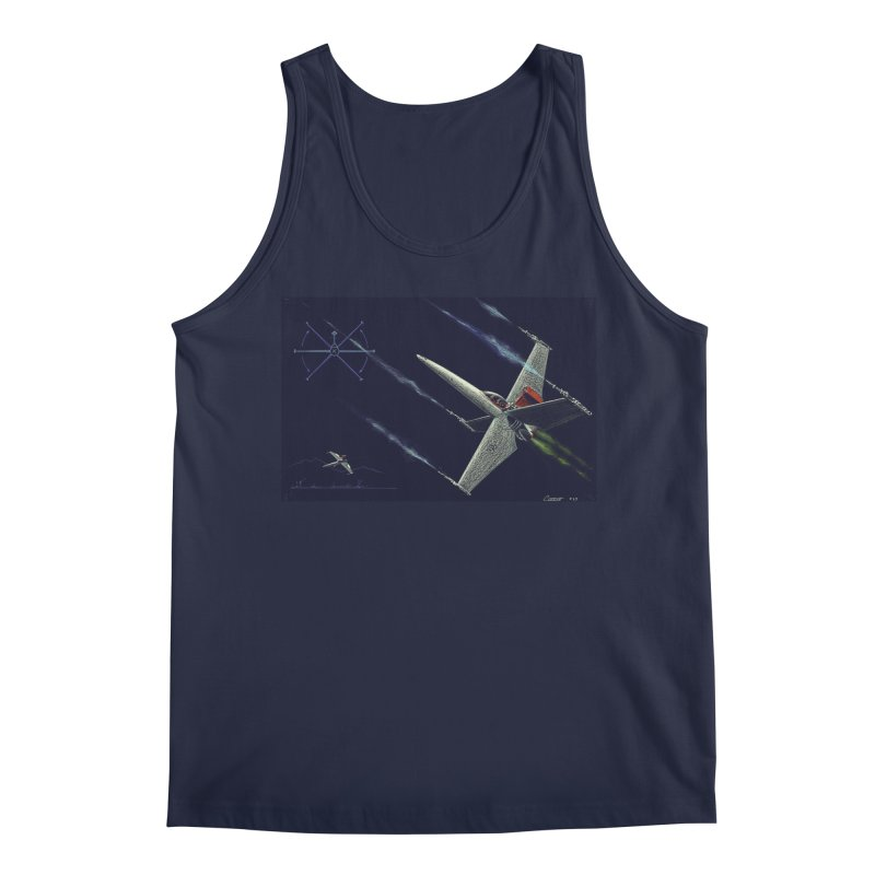 Concept Ship 2 Men's Tank by Colin Cantwell ll