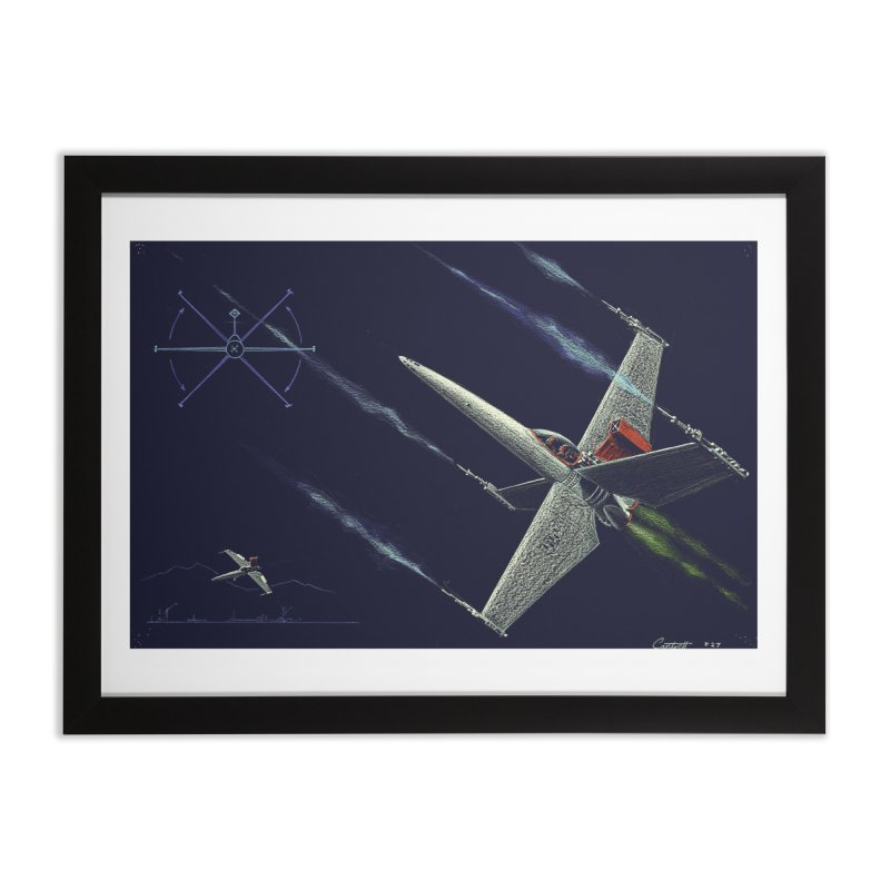 Concept Ship 2 Home Framed Fine Art Print by Colin Cantwell ll