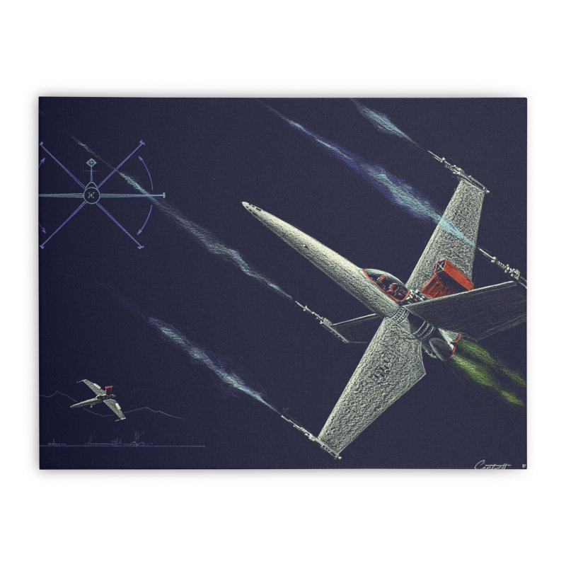 Concept Ship 2 Home Stretched Canvas by Colin Cantwell ll