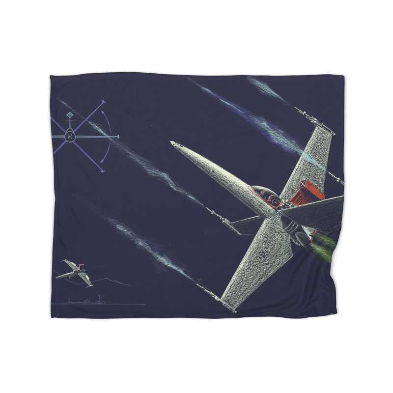 Concept Ship 2 Home Blanket by Colin Cantwell ll