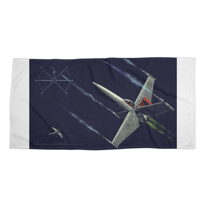 Concept Ship 2 Accessories Beach Towel by Colin Cantwell ll