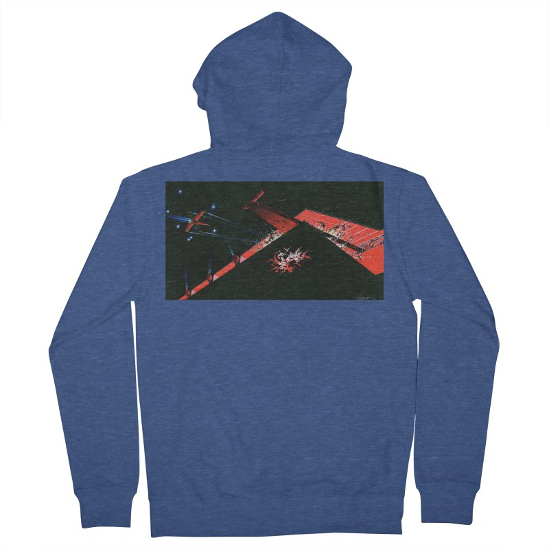 Concept Ship 1  Women's French Terry Zip-Up Hoody by Colin Cantwell ll