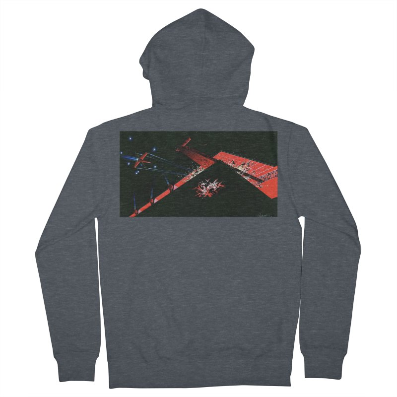 Concept Ship 1  Men's French Terry Zip-Up Hoody by Colin Cantwell ll