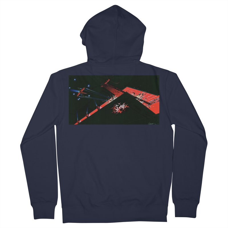 Concept Ship 1  Men's Zip-Up Hoody by Colin Cantwell ll