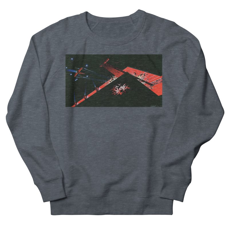 Concept Ship 1  Men's French Terry Sweatshirt by Colin Cantwell ll