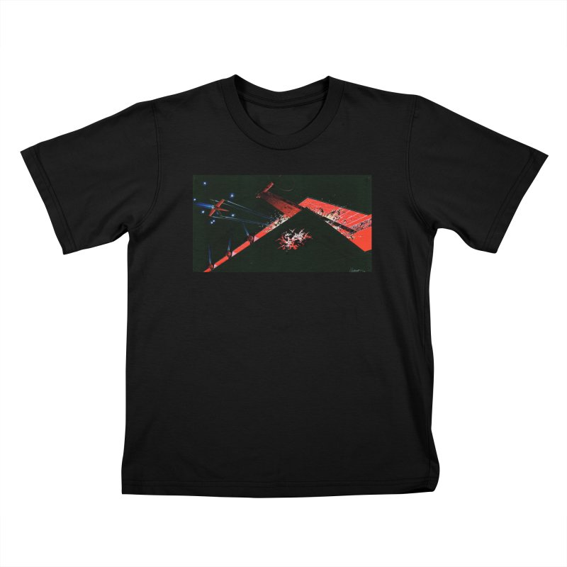 Concept Ship 1  Kids T-Shirt by Colin Cantwell ll