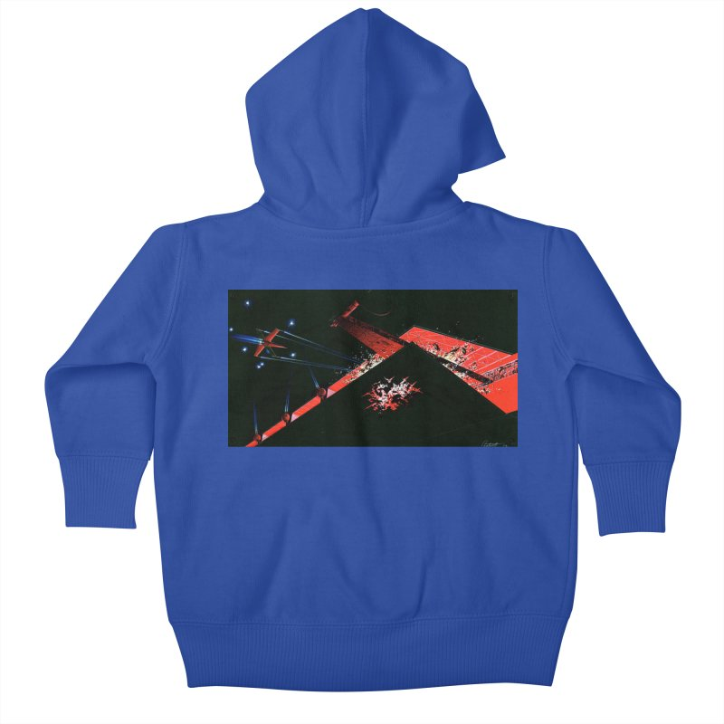 Concept Ship 1  Kids Baby Zip-Up Hoody by Colin Cantwell ll