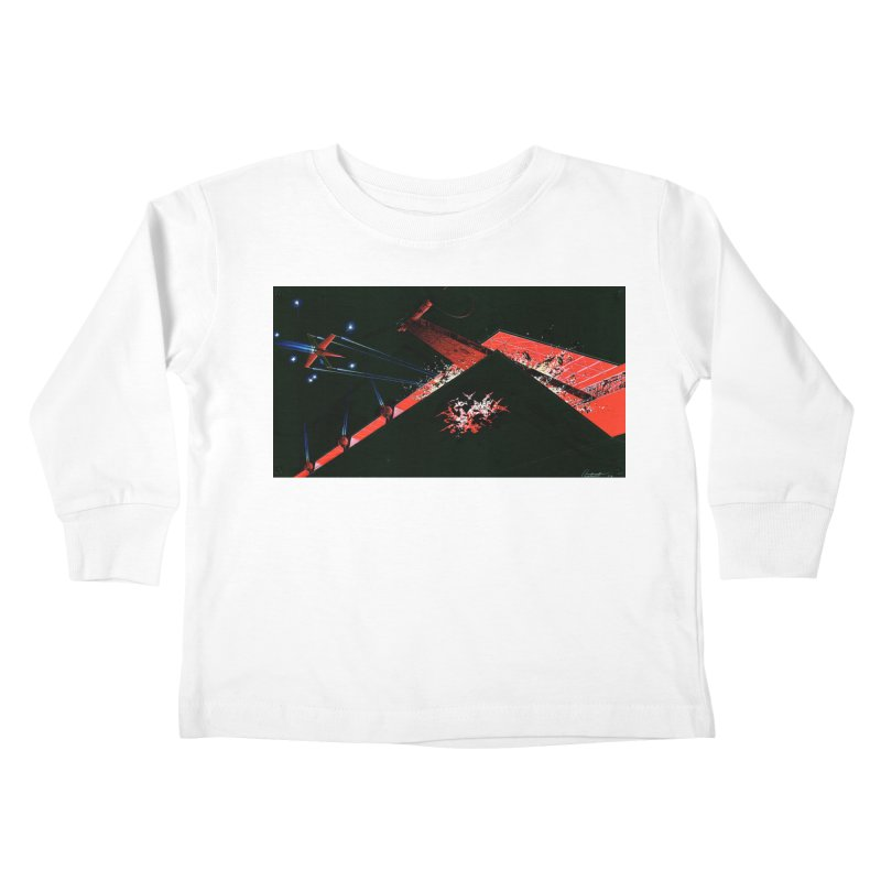 Concept Ship 1  Kids Toddler Longsleeve T-Shirt by Colin Cantwell ll
