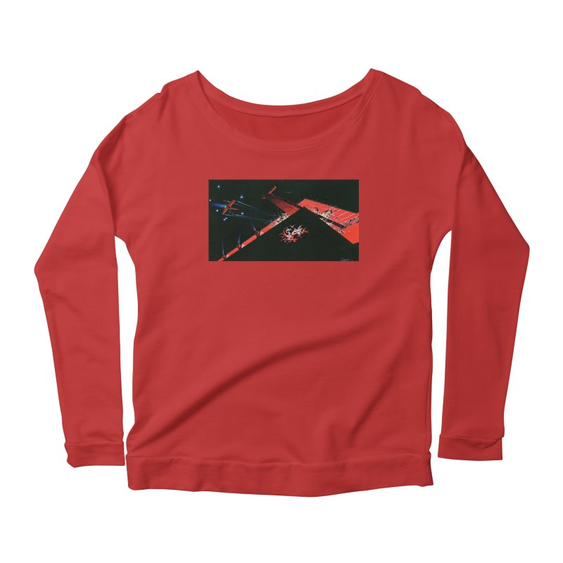 Concept Ship 1  Women's Scoop Neck Longsleeve T-Shirt by Colin Cantwell ll