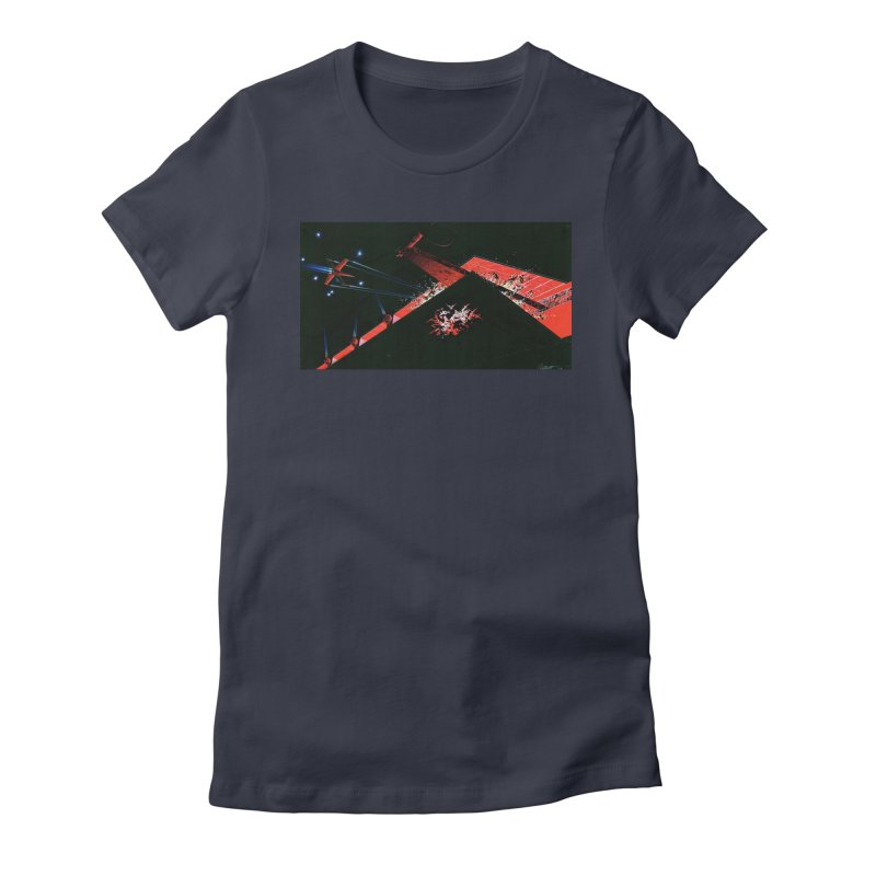 Concept Ship 1  Women's Fitted T-Shirt by Colin Cantwell ll