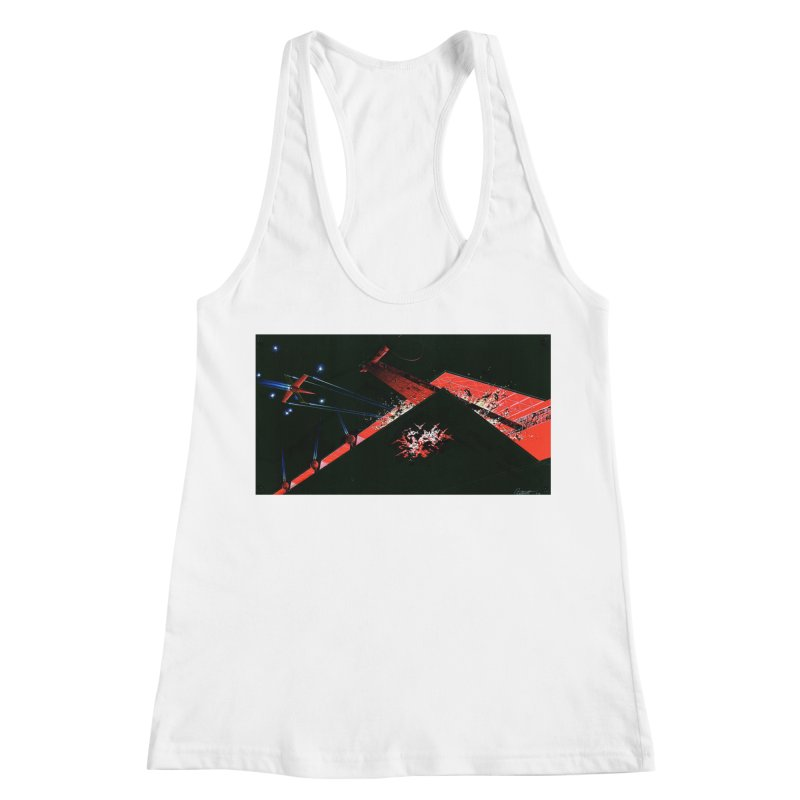 Concept Ship 1  Women's Racerback Tank by Colin Cantwell ll