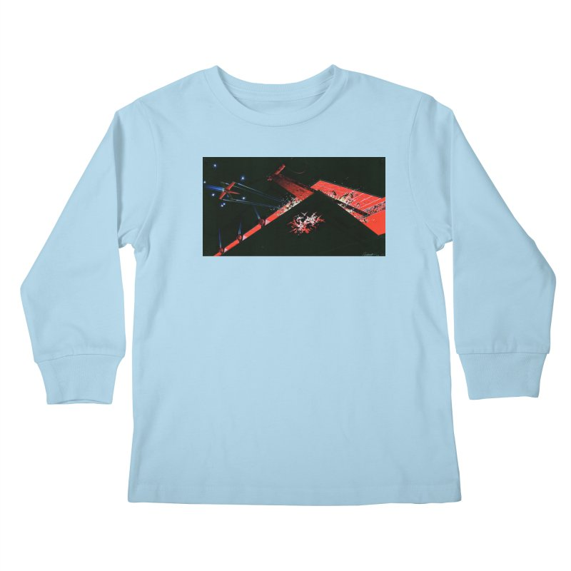 Concept Ship 1  Kids Longsleeve T-Shirt by Colin Cantwell ll