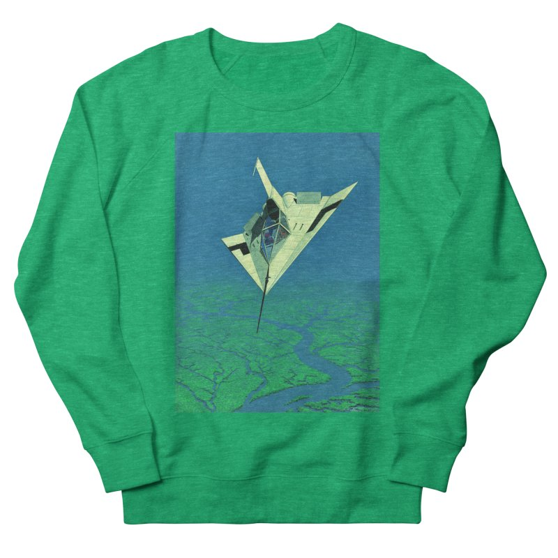 Concept Ship 5   Men's French Terry Sweatshirt by Colin Cantwell ll