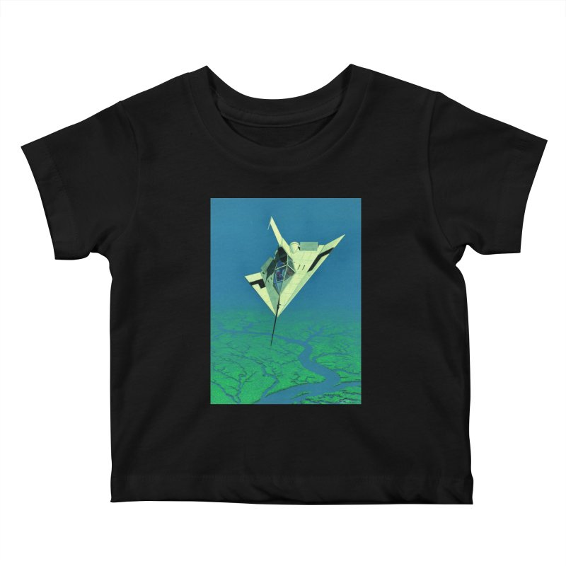 Concept Ship 5   Kids Baby T-Shirt by Colin Cantwell ll