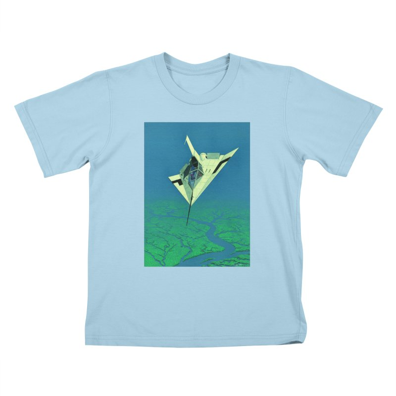 Concept Ship 5   Kids T-Shirt by Colin Cantwell ll