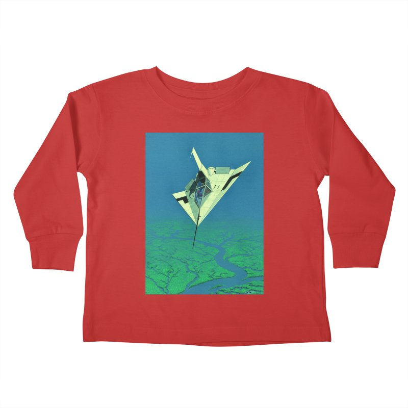 Concept Ship 5   Kids Toddler Longsleeve T-Shirt by Colin Cantwell ll