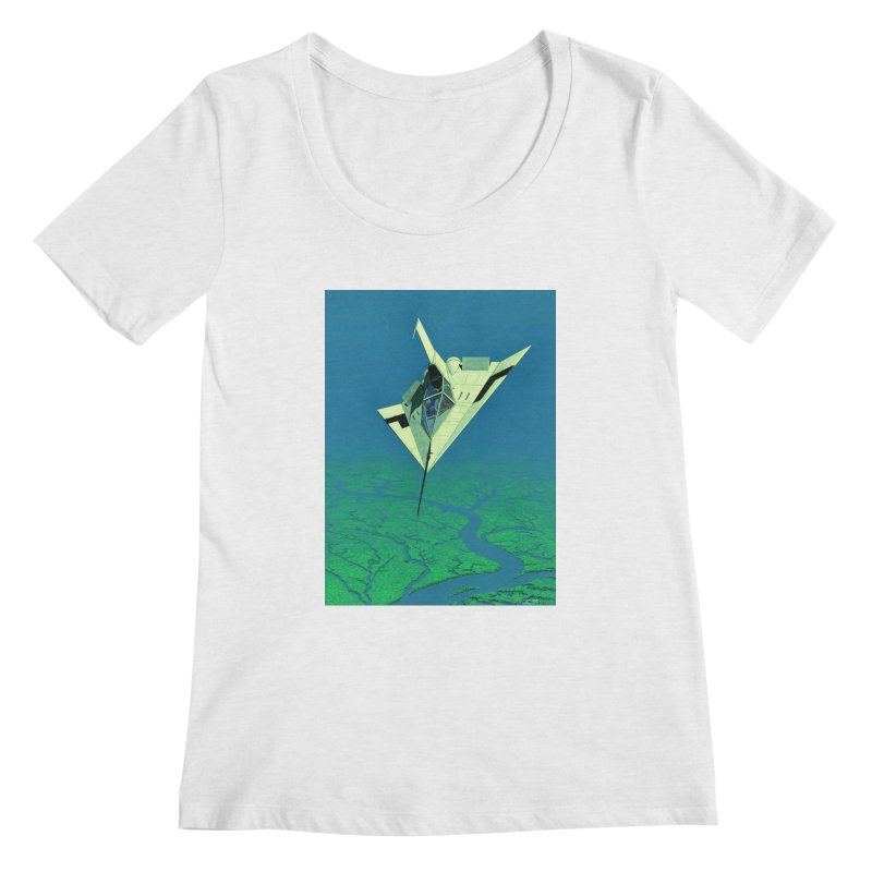 Concept Ship 5   Women's Scoop Neck by Colin Cantwell ll