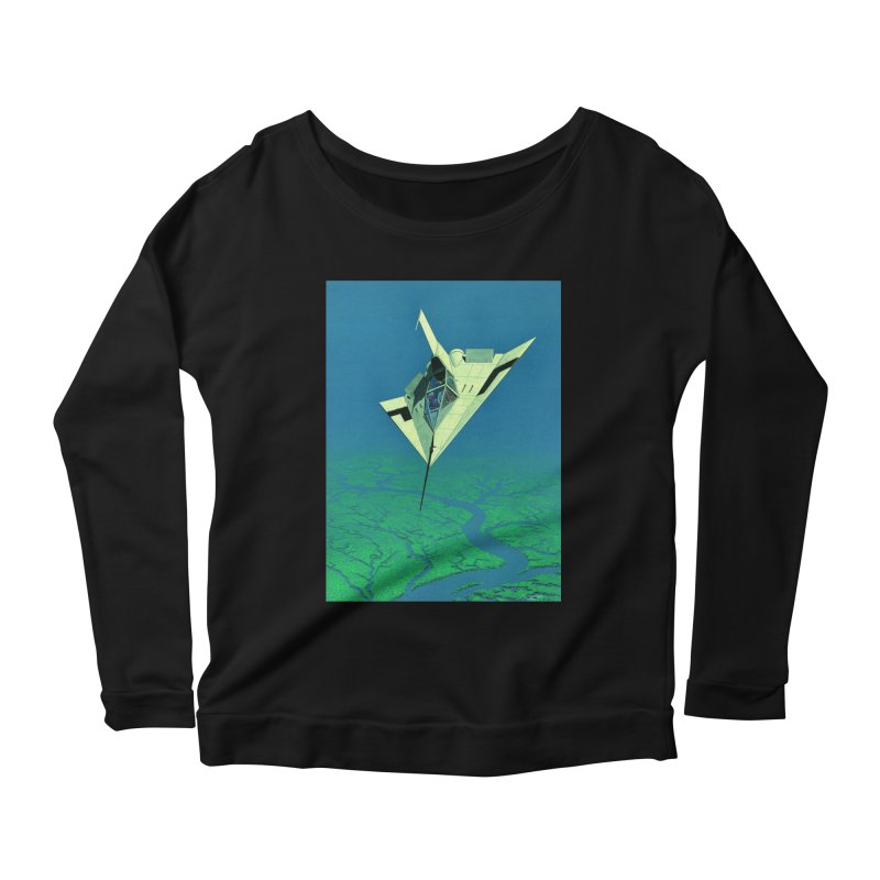 Concept Ship 5   Women's Scoop Neck Longsleeve T-Shirt by Colin Cantwell ll