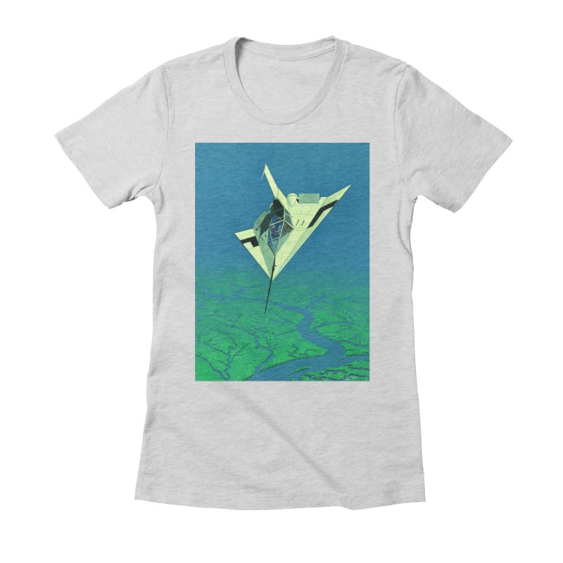Concept Ship 5   Women's Fitted T-Shirt by Colin Cantwell ll