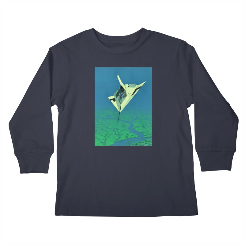 Concept Ship 5   Kids Longsleeve T-Shirt by Colin Cantwell ll