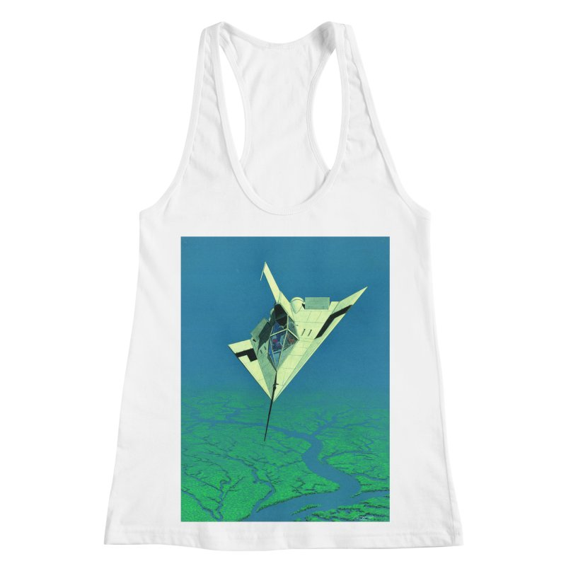 Concept Ship 5   Women's Racerback Tank by Colin Cantwell ll