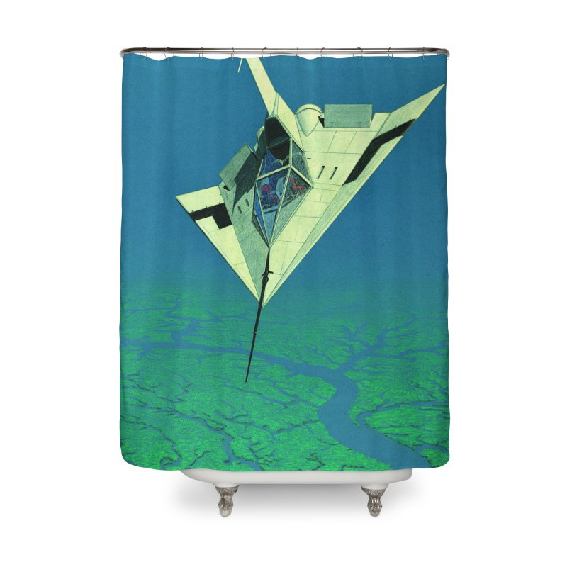 Concept Ship 5   Home Shower Curtain by Colin Cantwell ll