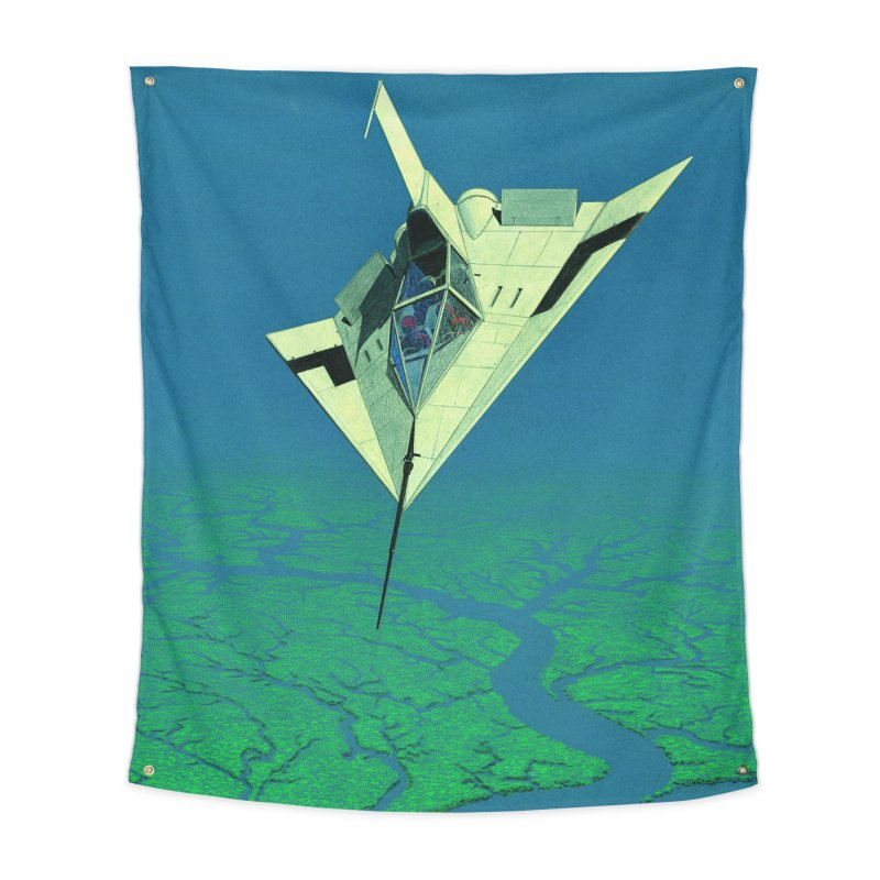 Concept Ship 5   Home Tapestry by Colin Cantwell ll