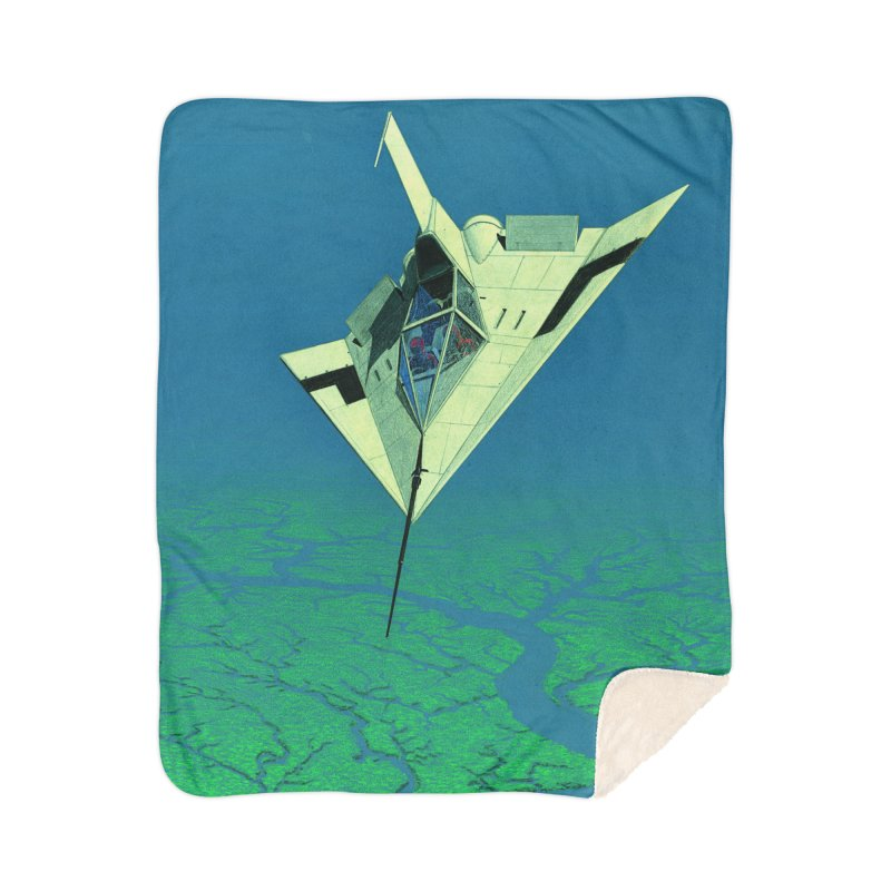 Concept Ship 5   Home Sherpa Blanket Blanket by Colin Cantwell ll