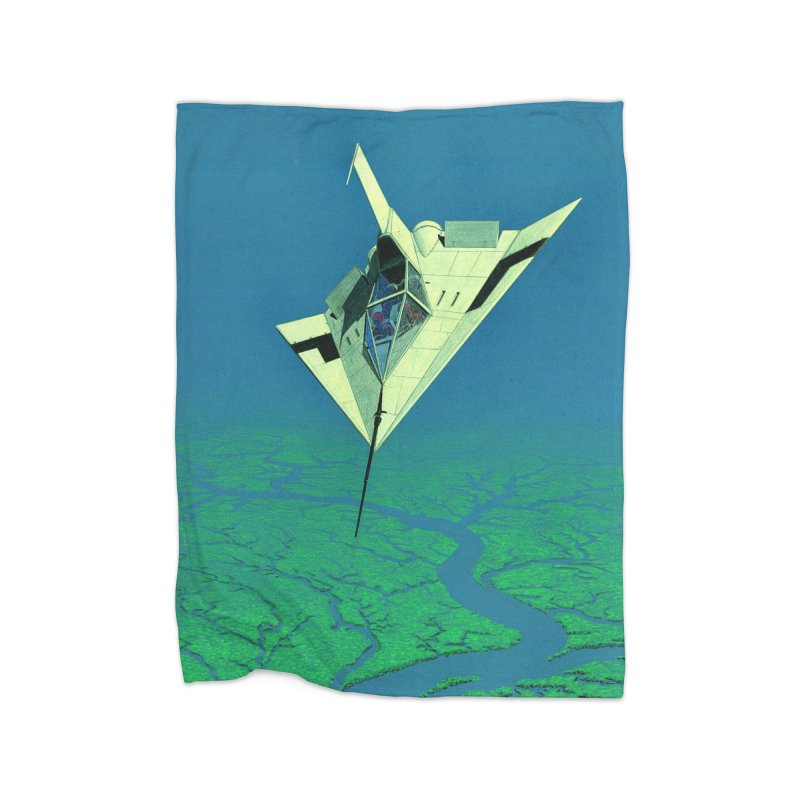 Concept Ship 5   Home Fleece Blanket Blanket by Colin Cantwell ll