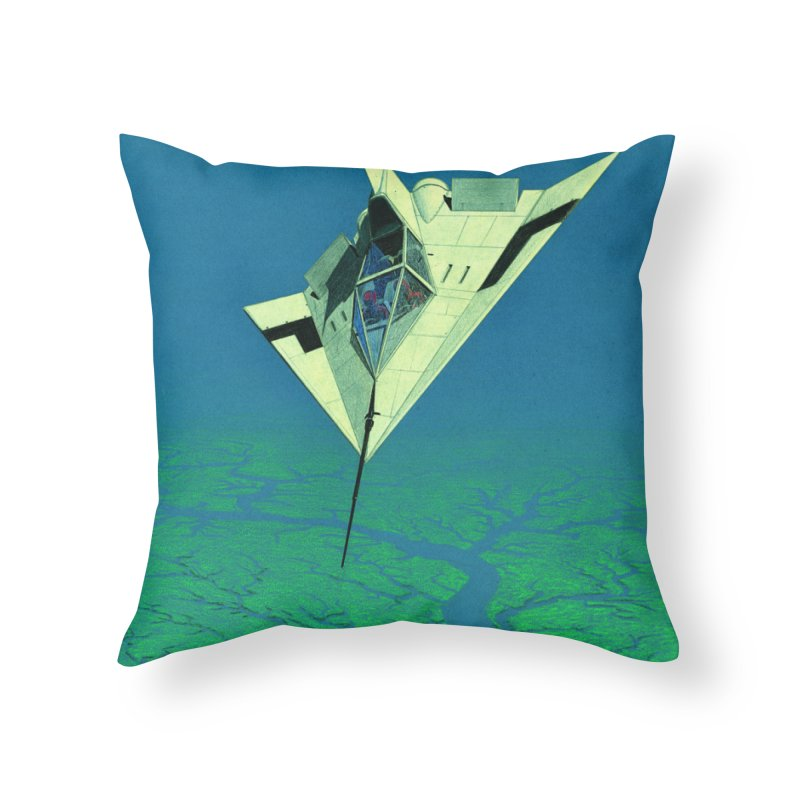Concept Ship 5   Home Throw Pillow by Colin Cantwell ll