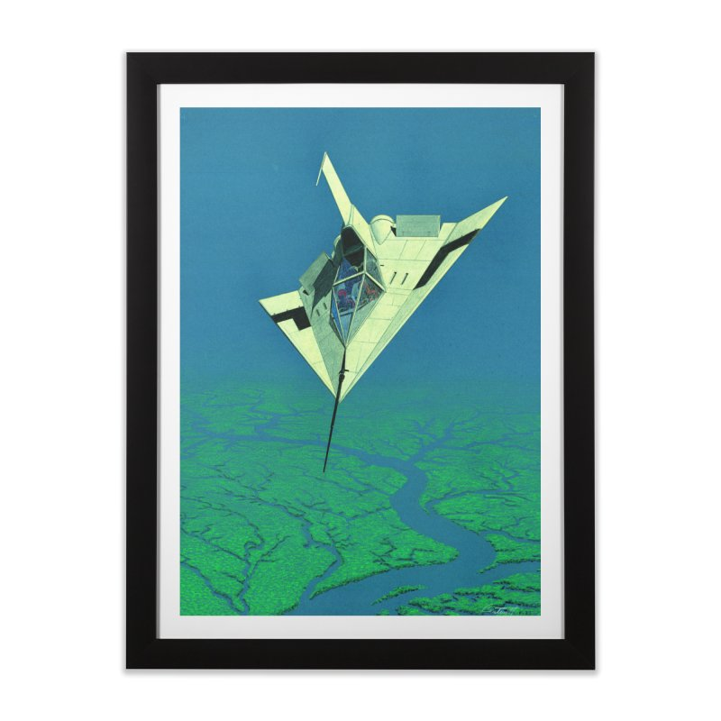 Concept Ship 5   Home Framed Fine Art Print by Colin Cantwell ll
