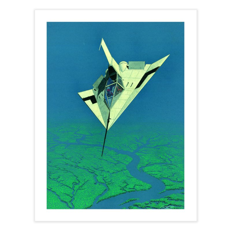 Concept Ship 5   Home Fine Art Print by Colin Cantwell ll