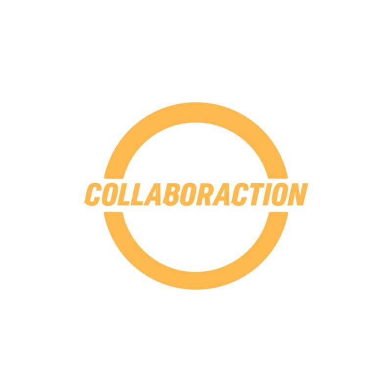 """Collaboraction's 23rd Season """"We Are Each Other's Business"""" in white and orange Men's Longsleeve T-Shirt by collaboraction's Artist Shop"""