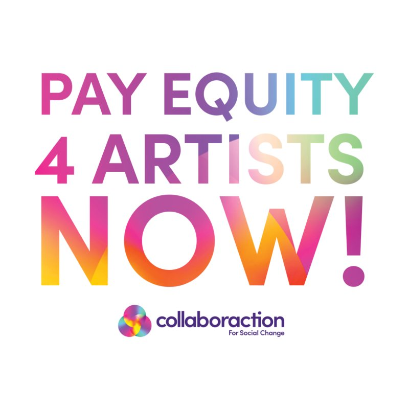 Pay Equity 4 Artists Now! with Purple Logo Men's T-Shirt by collaboraction's Artist Shop