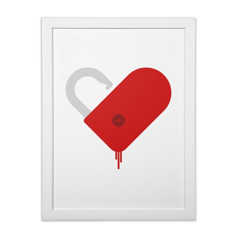 Open Heart Home Framed Fine Art Print by Offset