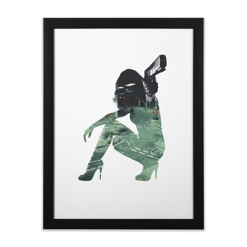 Urban Assault in Framed Fine Art Print Black by Offset