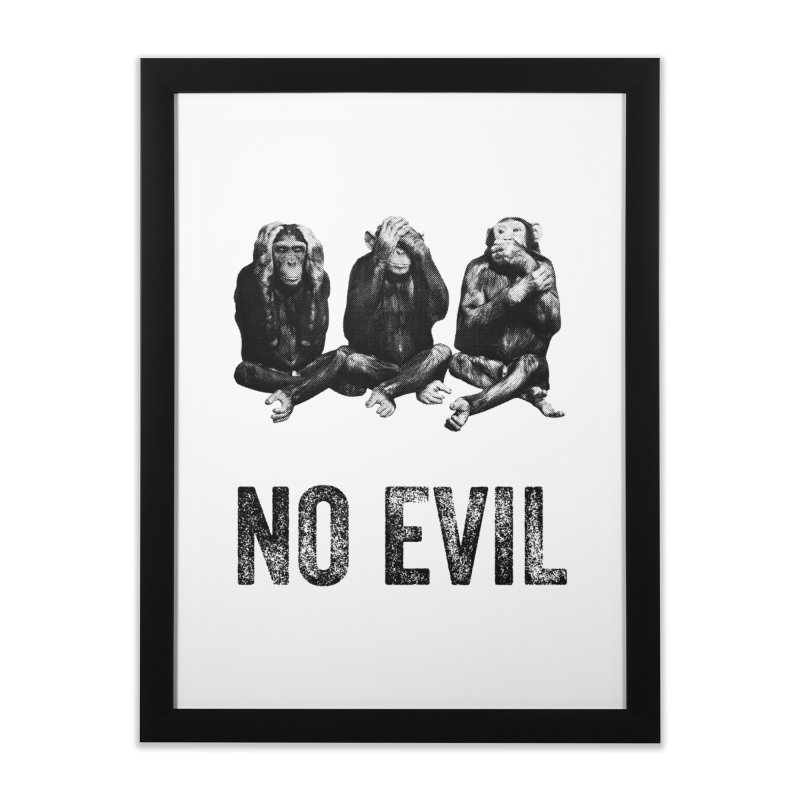 No Evil in Framed Fine Art Print Black by Offset