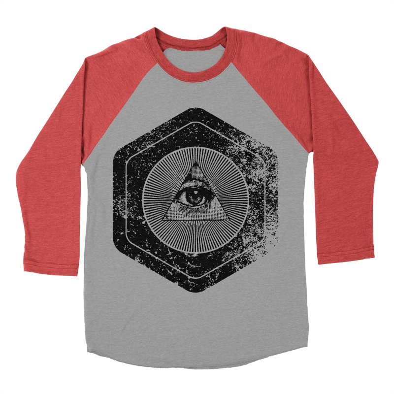Enlightened Men's Baseball Triblend Longsleeve T-Shirt by Offset