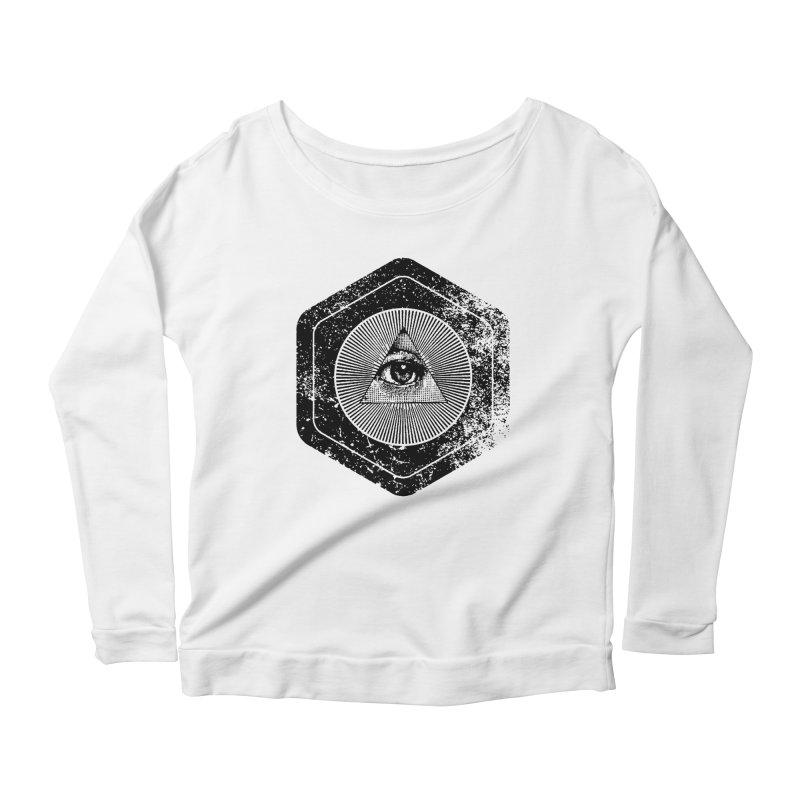 Enlightened Women's Scoop Neck Longsleeve T-Shirt by Offset