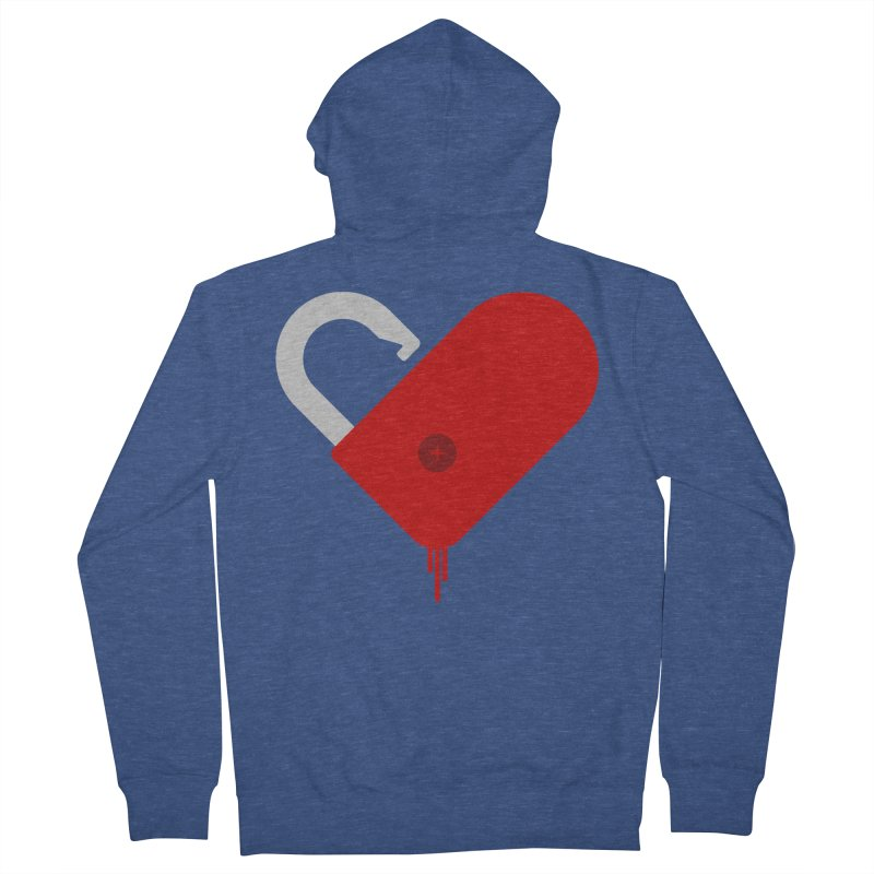 Open Heart Men's Zip-Up Hoody by Offset