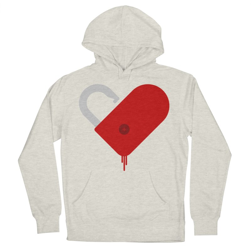 Open Heart Men's French Terry Pullover Hoody by Offset