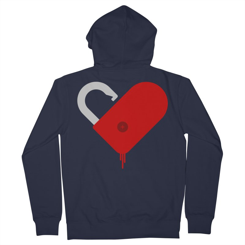 Open Heart Men's French Terry Zip-Up Hoody by Offset