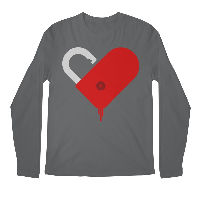Open Heart Men's Regular Longsleeve T-Shirt by Offset
