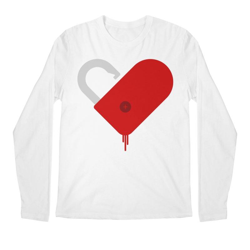 Open Heart Men's Regular Longsleeve T-Shirt by Offset