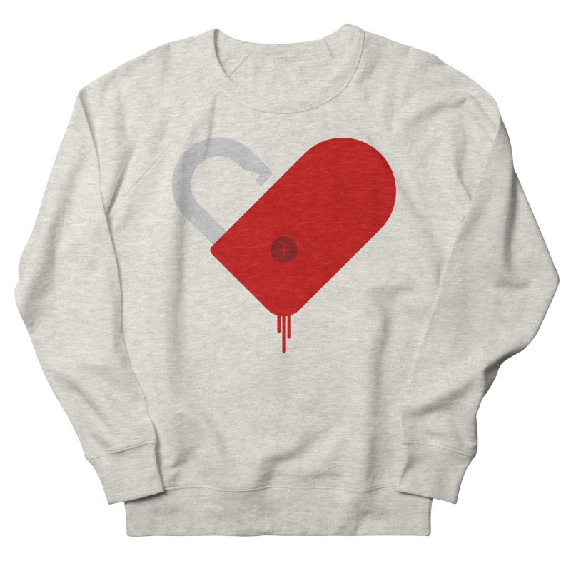 Open Heart Men's French Terry Sweatshirt by Offset