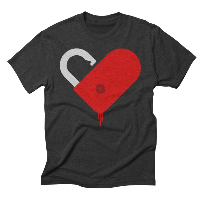 Open Heart Men's Triblend T-Shirt by Offset