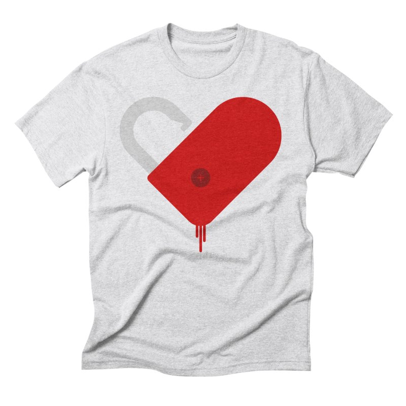 Open Heart Men's Triblend T-Shirt by Offset