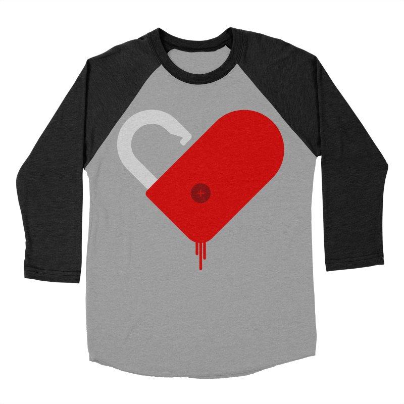 Open Heart Women's Baseball Triblend Longsleeve T-Shirt by Offset