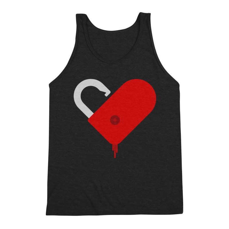 Open Heart Men's Tank by Offset